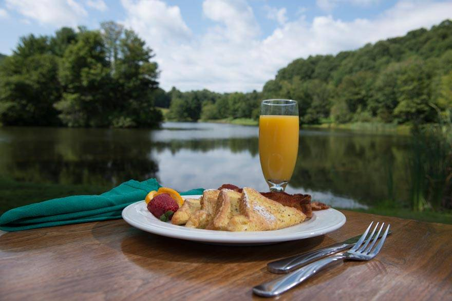 Fresh Breakfast by the Lake