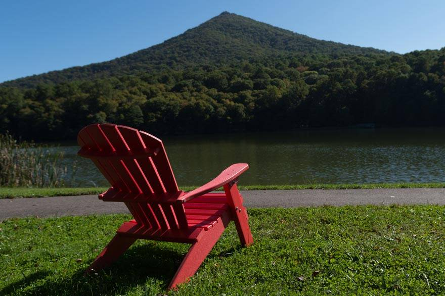 Adirondack Chair with View of Sharp Top Mountain - Peaks of Otter Lodge
