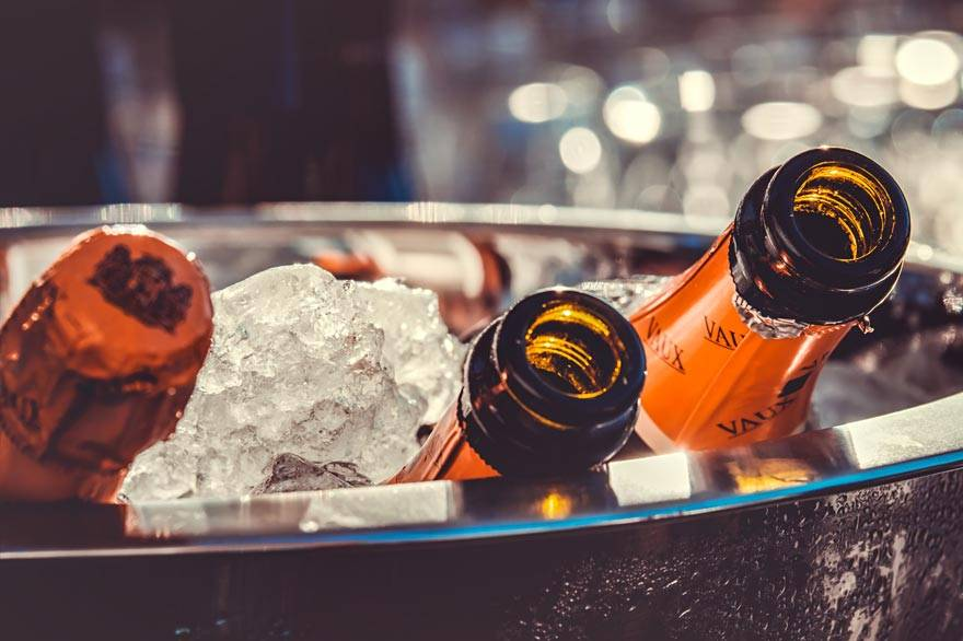 Champagne Bottles In Ice